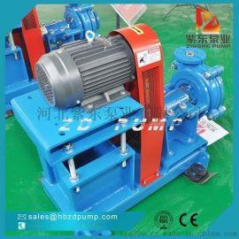 洗煤厂使用耐磨耐腐蚀卧式泥浆泵,离心渣浆泵