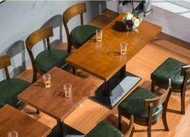 制作咖啡厅餐桌,批发咖啡餐椅,实木沙发款式