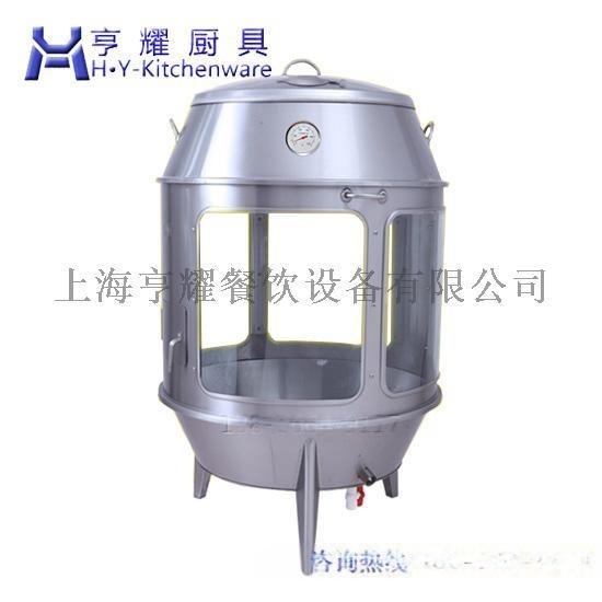 不鏽鋼桶烤鴨爐廠家,不鏽鋼圓桶烤鴨爐,雙層不鏽鋼桶烤鴨爐,氣電兩用圓桶烤鴨爐