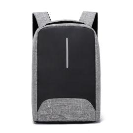 方振箱包專業定制大容量便攜可充充電牛津布雙肩背包 可添加logo