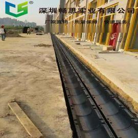 环保排水沟 高强度HDPE下水道 耐腐蚀塑料排水沟 不锈钢盖板