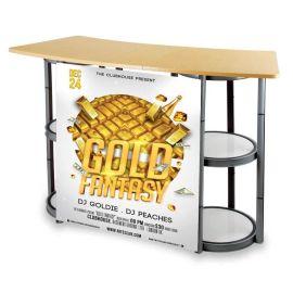 铝合金样品展示柜展会展架前台广告展示柜产品促销桌旋转折叠展示