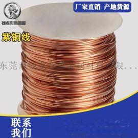 佛山环保镀锡t2紫铜线 国标精密导电紫铜线直径1.5