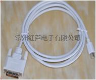 Mini DP 公頭 對 VGA公頭 轉接線