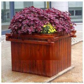 邯郸木质花盆防腐木花箱花盆户外种植花箱