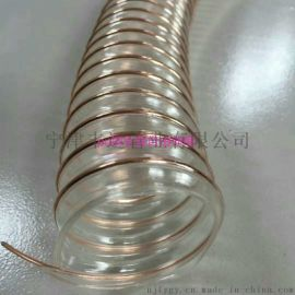 PU工业软管PU加强钢丝伸缩管PU真空抽吸管