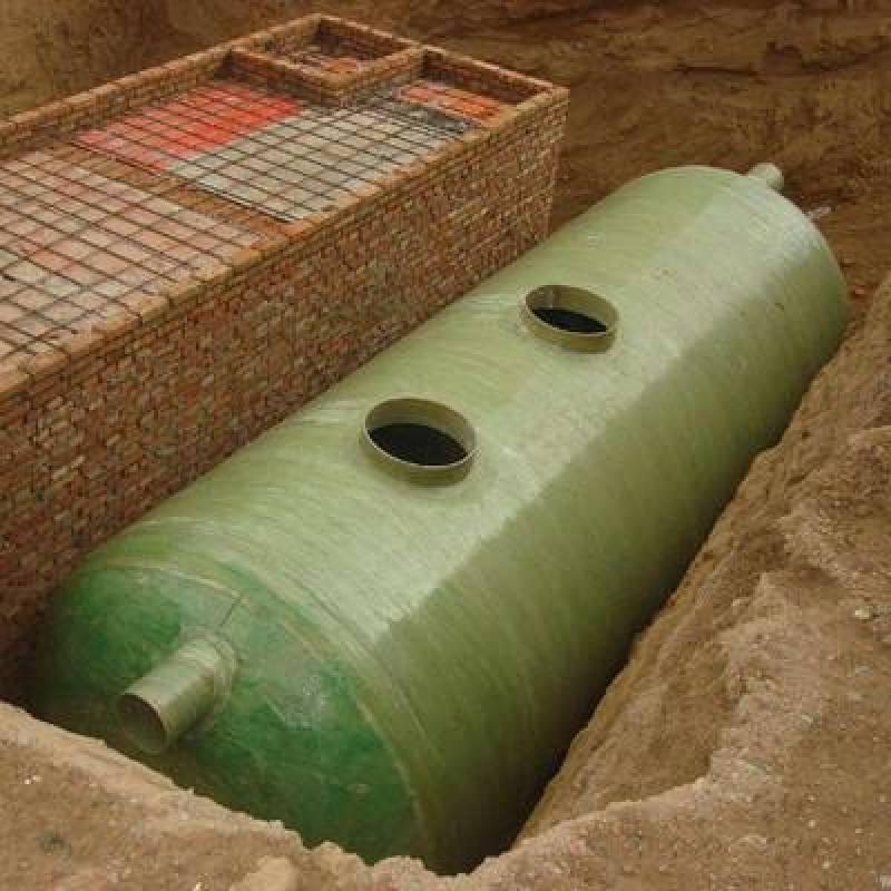 地埋式化粪池玻璃钢化粪池结构紧凑