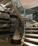 会所铁艺定制 旋转楼梯 会所钢结构梯
