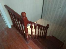 长沙实木楼梯厂家直销实木楼梯扶手、别墅复式整体楼梯