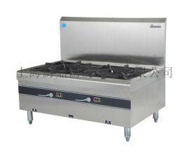 商用厨房设备酒店厨房设备双头燃气平头炉