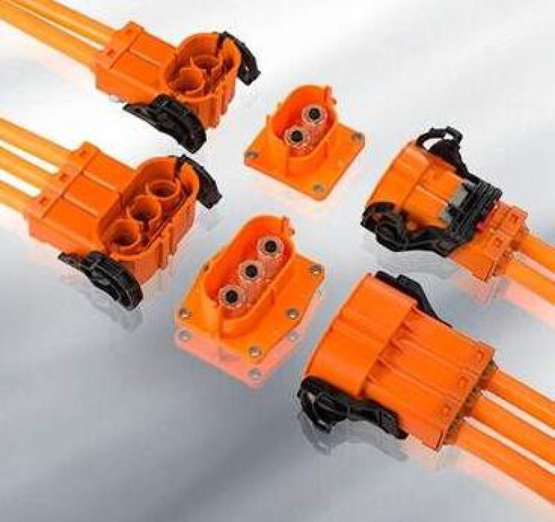 EV/EVC電動汽車單芯兩芯三芯大電流互鎖連接器