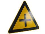 佛山超泽交通厂家定做 十字交叉警告标志牌