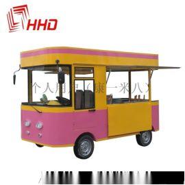 小吃车四轮美食快餐售货摆摊冰淇淋电动移动小吃车