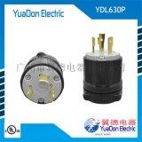 美标大功率机电设备工业锁式插头插座 美式电源插头