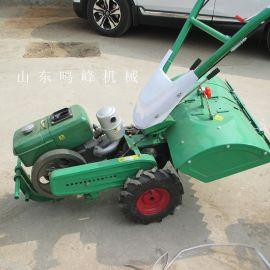 大棚种菜松土手扶管理机,果园开沟施肥小型管理机