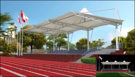 学校膜结构看台 景观膜结构看台 运动场膜结构看台