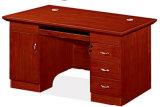 油漆木皮辦公桌1451款 環保油漆 胡桃木皮職員臺