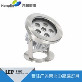 6w大功率水底灯-304不锈钢水池灯