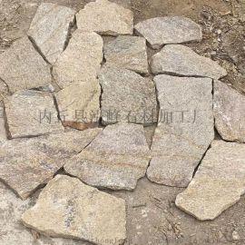 青灰色石材垒墙石 景观挡墙石外墙碎拼文化石乱形石
