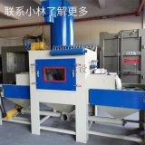 深圳噴砂機廠家,門窗手柄批量打砂自動噴砂機