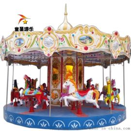 河南商丘童星廠家供應遊樂場兒童設備豪華轉馬供應銷售