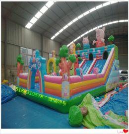 山西晋中室外游乐玩具充销气城堡 大型充气蹦床热