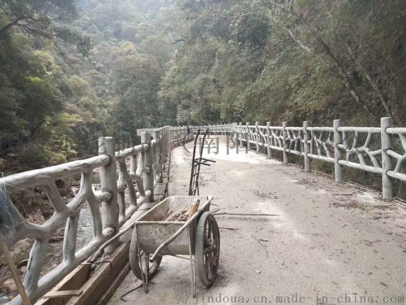 仿木水泥护栏 景区仿树皮护栏公园仿木栏杆 水泥护栏