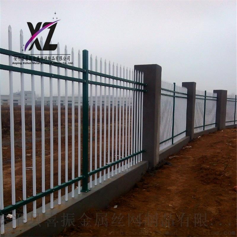 圈墙栏杆锌钢护栏,千山镇围墙栅栏,锌钢围墙护栏厂家