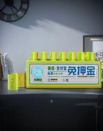 桌面式扫码充电宝租赁机_倍电7口充电宝机柜