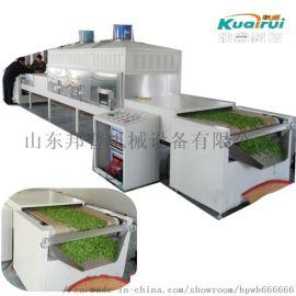 隧道式微波茶叶绿茶杀青烘干一体机