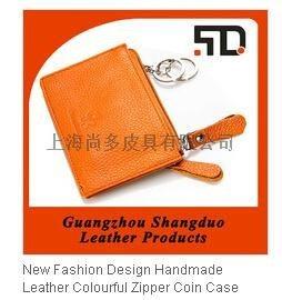 广东工厂生产定制真皮钥匙包卡包真皮零钱包