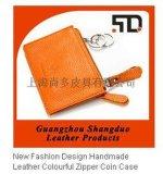 廣東皮具廠生產定製真皮鑰匙包 拉鍊包 零錢包 名片卡夾 真皮名片包
