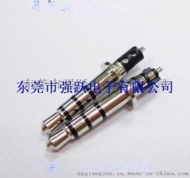 3.5*6.0*24.8四级耳机插针,3.5三声道插头,耳机插头