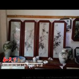 中国风手绘瓷板 陶瓷 挂画无框画 商务会议礼品
