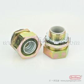 鐵鍍鋅直接頭 金屬包塑軟管接頭 配牙圈鎖母