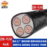 金环宇电缆 ZB-YJV4X6平方 电缆b级阻燃 国标 yjv低压电缆
