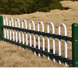 城市绿化草坪护栏 锌钢防腐绿化带栏杆 绿色钢管草坪围栏定做