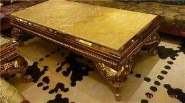 定制酒店豪華型不鏽鋼鈦金茶幾腳 不鏽鋼簡約型茶幾餐桌椅生產公司