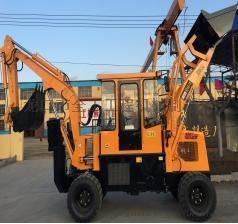 轮式挖掘装载机两头忙全工小型挖掘装载机