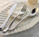 出口法國正品西餐食具不鏽鋼刀叉勺四件套裝三件套BUDDHA月光刀叉