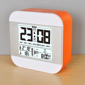 法克图新款语音报时电子闹钟大屏星期显示数字闹钟ABS材质时尚夜光闹钟