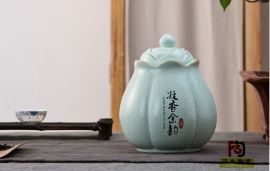 北京陶瓷茶叶罐定做,红茶花茶养生茶叶罐定做厂家