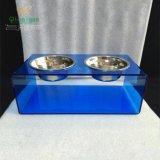厂家促销有机玻璃宠物碗 亚克力宠物碗透明餐桌 宠物用品 宠物猫犬床订制