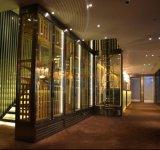 夢奇源 不鏽鋼恆溫酒櫃定製 簡約金屬紅酒酒架屏風酒櫃