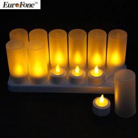 厂家直销创意精美led电子蜡烛灯仿真环保无烟小茶蜡烛
