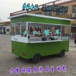 山东天纵多功能流动餐车手推式餐车保温送餐车冷饮小吃车