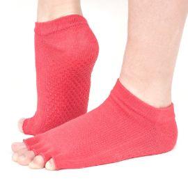贞正瑜伽袜女  专业露趾防滑硅胶五指袜  全棉运动舞蹈袜厂家批发