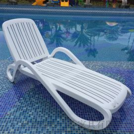 意大利原原装进口ABS塑料躺椅酒店泳池休闲躺椅
