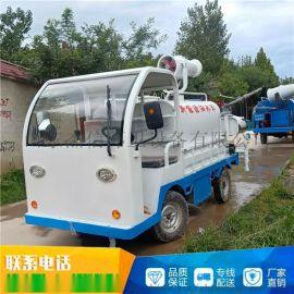 电动洒水车四轮洒水车小型雾炮车电动喷雾车
