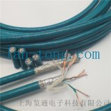 cat5e cat6a工業乙太網通訊拖鏈遮罩網線